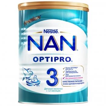 Детское молочко NAN 3 OPTIPRO для детей с 12 месяцев, 800 г