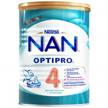 Детское молочко NAN 4 OPTIPRO для детей с 18  месяцев, 400 г